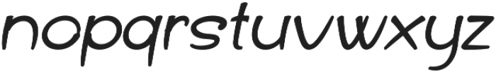 Haribu Italic otf (400) Font LOWERCASE