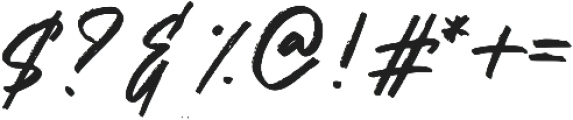Hariston otf (400) Font OTHER CHARS