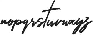 Hariston otf (400) Font LOWERCASE