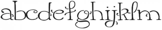 Harlequinty otf (400) Font LOWERCASE