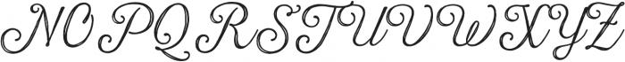Harman Script Inline otf (400) Font UPPERCASE
