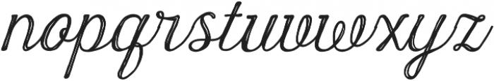 Harman Script Inline otf (400) Font LOWERCASE