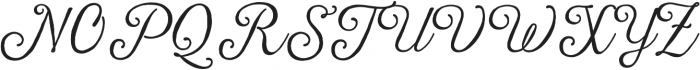 Harman Script otf (400) Font UPPERCASE