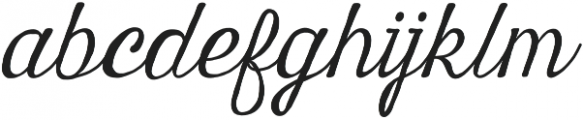Harman Script otf (400) Font LOWERCASE