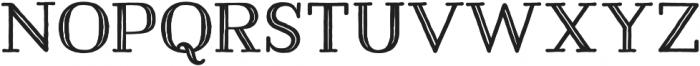 Harman Slab Inline otf (400) Font UPPERCASE