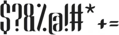 Harmonial Regular otf (400) Font OTHER CHARS