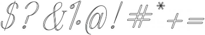 Harper Script Outlined - Rounded otf (400) Font OTHER CHARS