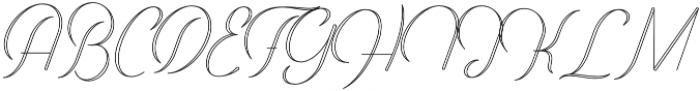 Harper Script Outlined - Rounded otf (400) Font UPPERCASE