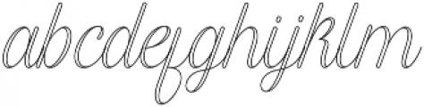 Harper Script Outlined - Rounded otf (400) Font LOWERCASE
