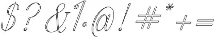 Harper Script Outlined otf (400) Font OTHER CHARS