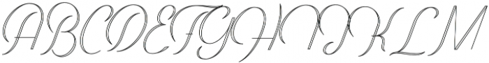 Harper Script Outlined otf (400) Font UPPERCASE