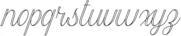 Harper Script Outlined otf (400) Font LOWERCASE