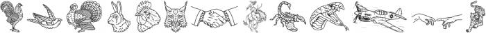 Harrison Illustration otf (400) Font UPPERCASE
