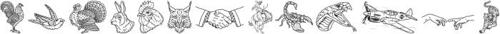 Harrison Illustration otf (400) Font LOWERCASE
