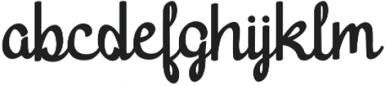 Harton otf (400) Font LOWERCASE