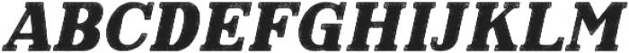 Hartwood Rough Oblique otf (400) Font UPPERCASE