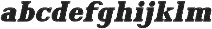 Hartwood Rough Oblique otf (400) Font LOWERCASE
