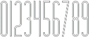 Hashtag Outline otf (400) Font OTHER CHARS