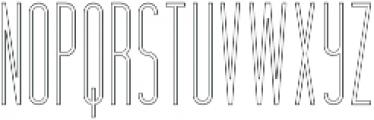 Hashtag Outline otf (400) Font UPPERCASE