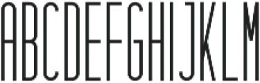 Hashtag Regular otf (400) Font UPPERCASE