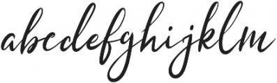 Hasty ttf (400) Font LOWERCASE