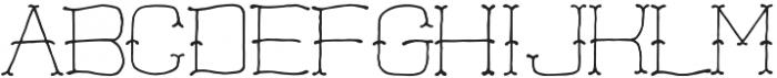 Hatchet Hatchet otf (400) Font LOWERCASE