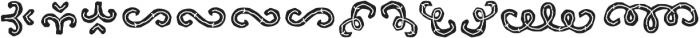 Hatter Display Pro Ornament Line otf (400) Font UPPERCASE