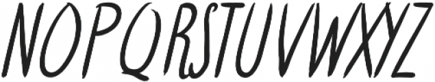 Hattes Italic otf (400) Font UPPERCASE
