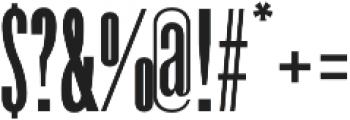 Havanna bold otf (700) Font OTHER CHARS
