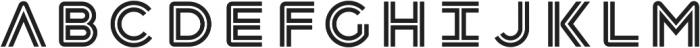 Havelock Inline otf (400) Font LOWERCASE