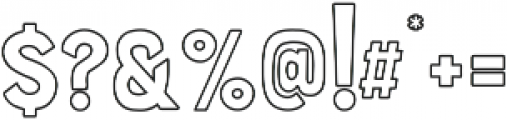 Hawaiian Caps outline ttf (400) Font OTHER CHARS
