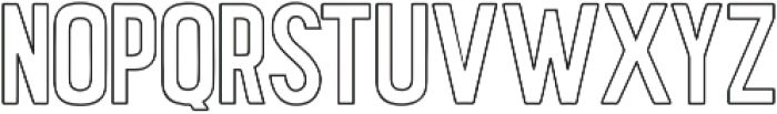 Hawaiian Caps outline ttf (400) Font UPPERCASE