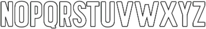 Hawaiian Caps outline ttf (400) Font LOWERCASE