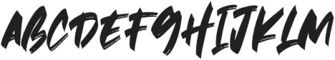 Hawkeyes otf (400) Font UPPERCASE