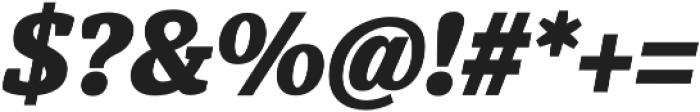 Hawking ExtraBold It otf (700) Font OTHER CHARS