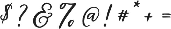 Hawthorne Script otf (400) Font OTHER CHARS