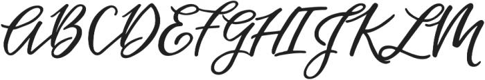 Hawthorne Script otf (400) Font UPPERCASE