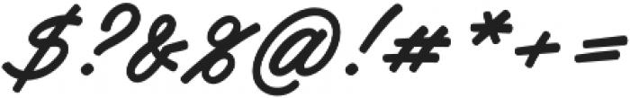 Haydon Brush otf (400) Font OTHER CHARS