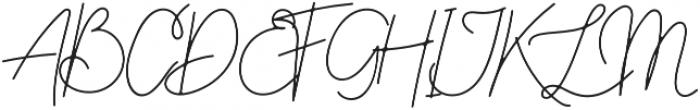 Hayley Signature otf (400) Font UPPERCASE
