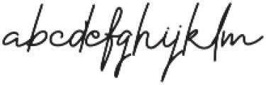 Hayley Signature otf (400) Font LOWERCASE