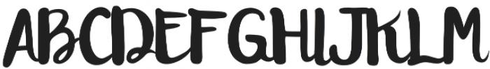 Hayuk Script otf (400) Font UPPERCASE