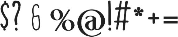 handy ttf (700) Font OTHER CHARS