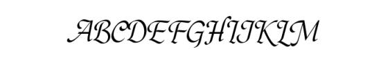 Hargalia.otf Font UPPERCASE