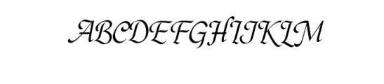 Hargalia.ttf Font UPPERCASE