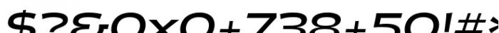 Halogen Flare Bold Oblique Font OTHER CHARS