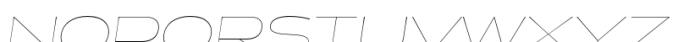 Halogen Flare Hairline Oblique Font UPPERCASE
