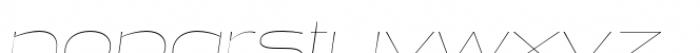 Halogen Flare Hairline Oblique Font LOWERCASE