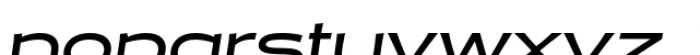 Halogen Flare Medium Oblique Font LOWERCASE