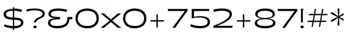 Halogen Flare Regular Font OTHER CHARS