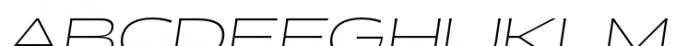 Halogen Flare Thin Oblique Font UPPERCASE